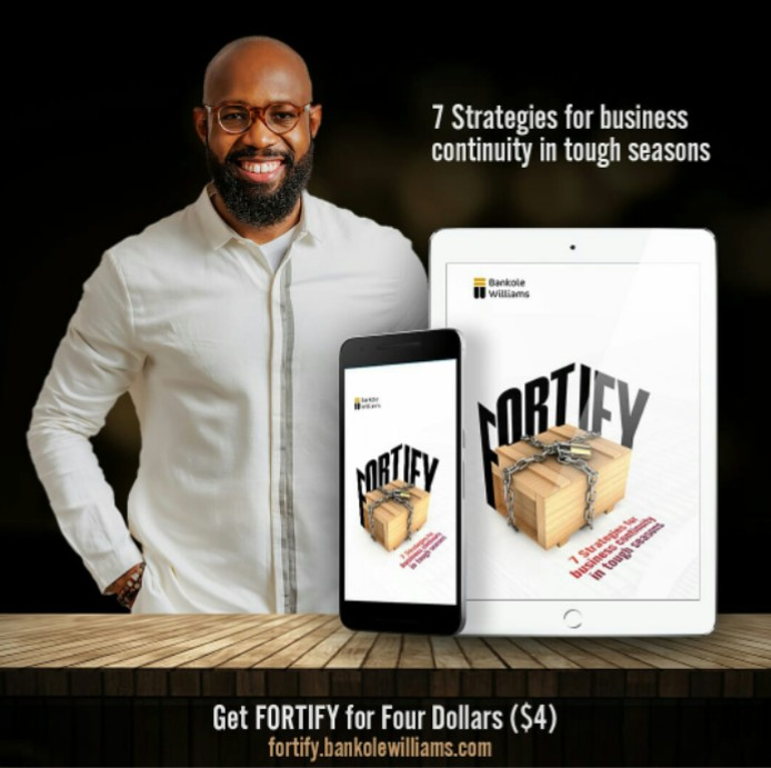 Bankole Williams teaches '7 Strategies for business continuity in tough seasons' in New Book – FORTIFY